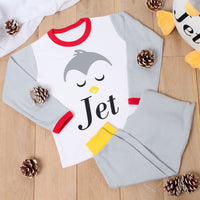 Personalised Penguin Christmas Pyjamas - Mini Kings & Queens