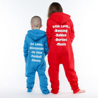 Personalised Sapphire Blue Favourite Things Onesie - Mini Kings & Queens