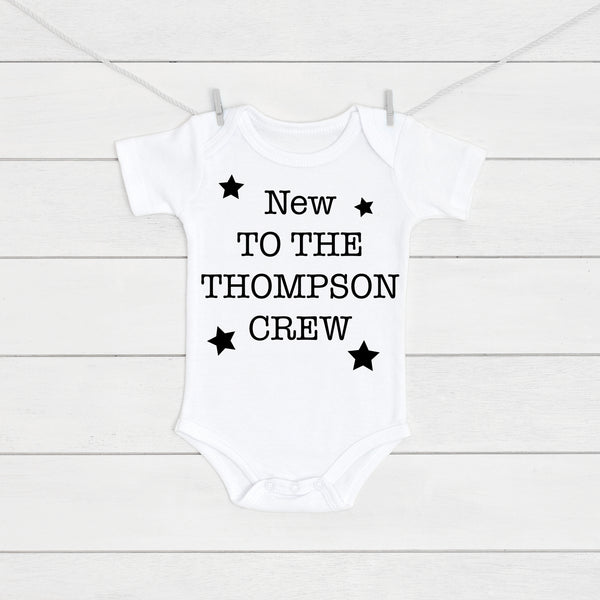 Pregnancy Announcement New To The Crew Baby Vest - Mini Kings & Queens