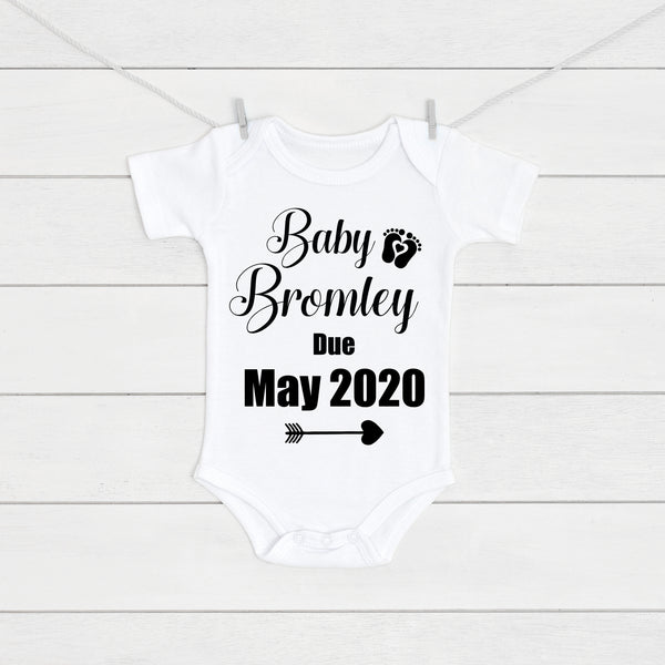 Pregnancy Baby Name Announcement Vest - Mini Kings & Queens