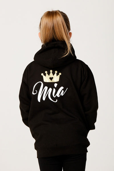 Personalised Black Princess Hoodie - Mini Kings & Queens