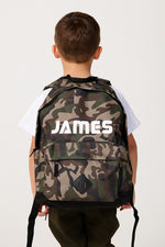 Personalised Camo Maxi Backpack