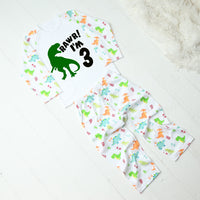 Personalised Dinosaur RAWR Birthday Pyjamas