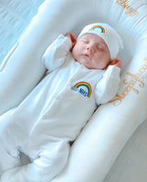 Rainbow Embroidered Babygrow