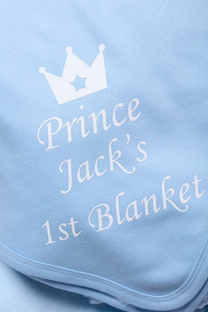 Personalised Blue Baby Blanket - Mini Kings & Queens