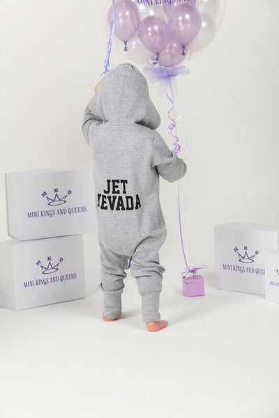 Personalised Grey Baby Onesie - Mini Kings & Queens