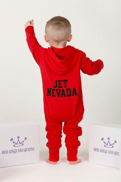Personalised Red Baby Onesie - Mini Kings & Queens