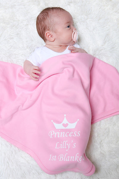 Personalised Pink Baby Blanket - Mini Kings & Queens