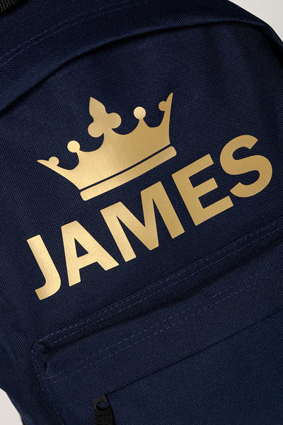 Personalised Navy King Backpack - Mini Kings & Queens