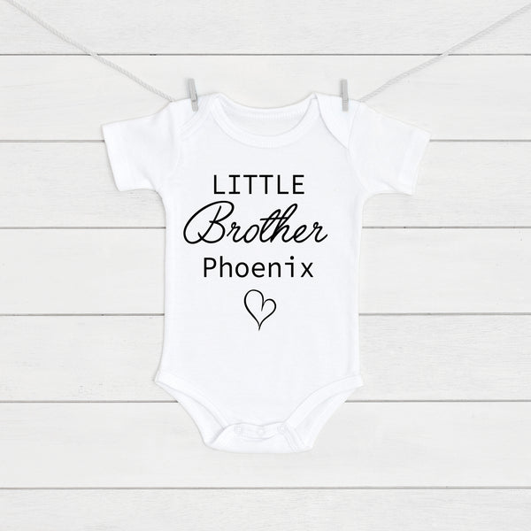 Personalised Little Brother Baby Vest - Mini Kings & Queens