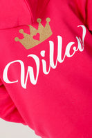 Personalised Hot Pink Princess Hoodie - Mini Kings & Queens