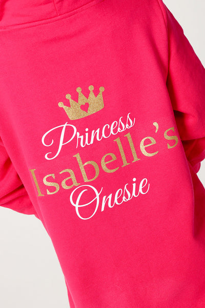 Pink Princess Onesie 3-4y - 13y - Mini Kings & Queens