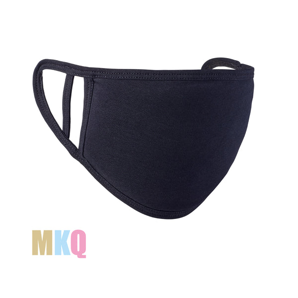 Plain Black Soft Cotton Protective Face Mask
