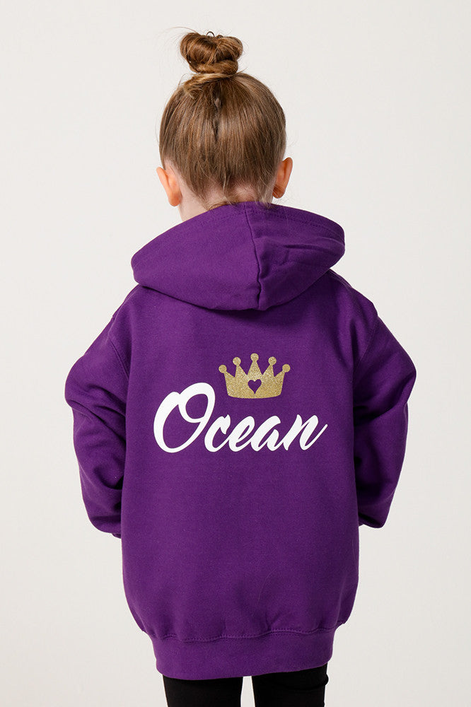 Personalised Purple Princess Hoodie - Mini Kings & Queens