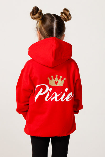 Personalised Red Princess Hoodie - Mini Kings & Queens