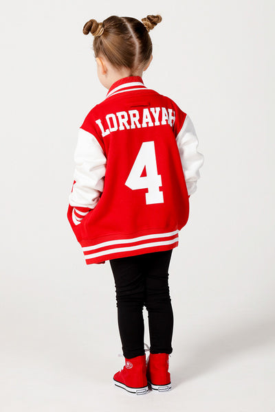 Personalised Red Varsity Jacket - Mini Kings & Queens