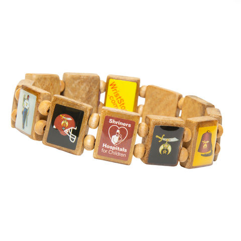 Sample - Shriners (12 tile) Bracelet