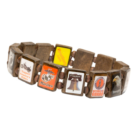 Sample - American Veteran (14 tile) Bracelet
