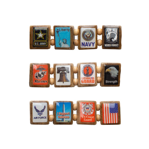 Sample - American Veteran (12 tile) Bracelet