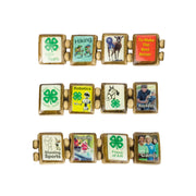 Sample - 4-H Club (12 tile) Bracelet