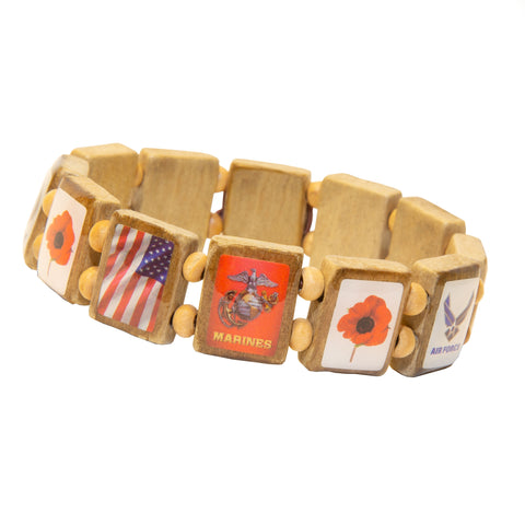Poppy Remembrance (12 tile) - Fundraising Bracelet