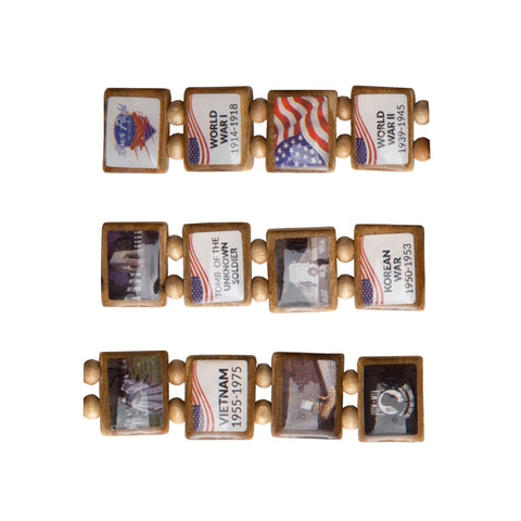 Sample - Honor Flight (12 tile) Bracelet
