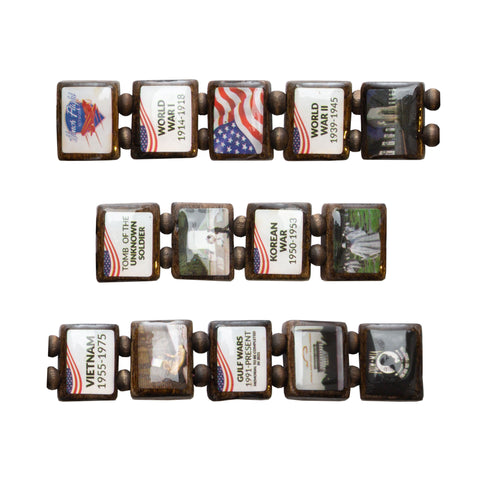 Sample - Honor Flight (14 tile) Bracelet