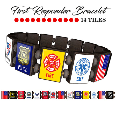Sample - First Responders (14 tile) Bracelet