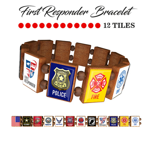 Sample - First Responders (12 tile) Bracelet