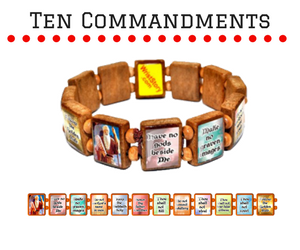 Sample - 10 Commandments (12 tile) Bracelet