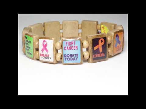 Cancer Awareness (12 tile) - Fundraising Bracelet