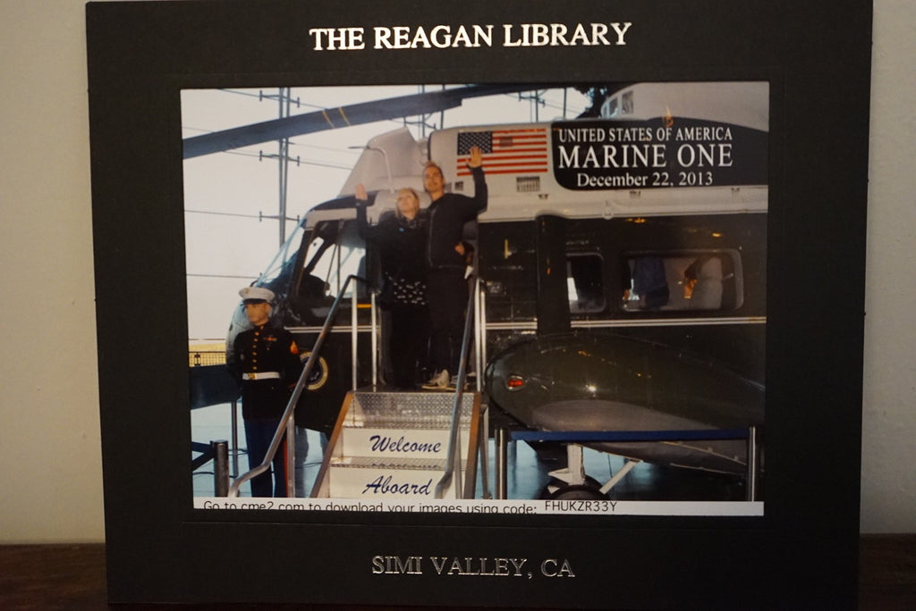 Chantie & Jimmy Visit the Reagan Library Commemorative Photo - XSN - Your Shopping Network