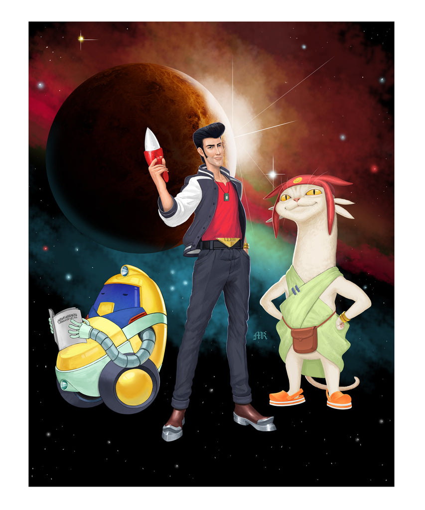 SPACE DANDY (Marcel Ramos Art Print) - XSN - Your Shopping Network