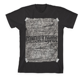 Conquer Divide Scribble Black T-Shirt - XSN - Your Shopping Network