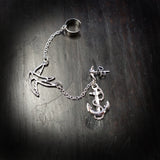 Swallow & Anchor Ear Cuff with Chain - XSN - Your Shopping Network