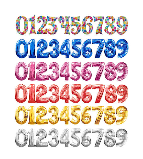 "35"" Foil Number Balloons - XSN - Your Shopping Network"