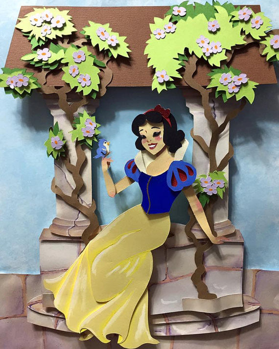 Snow White 3D paper craft illustration - XSN - Your Shopping Network - 1
