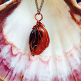 Red Agate Creativity Crystal Necklace (Xanthia Pink's Designs) - XSN - Your Shopping Network - 1