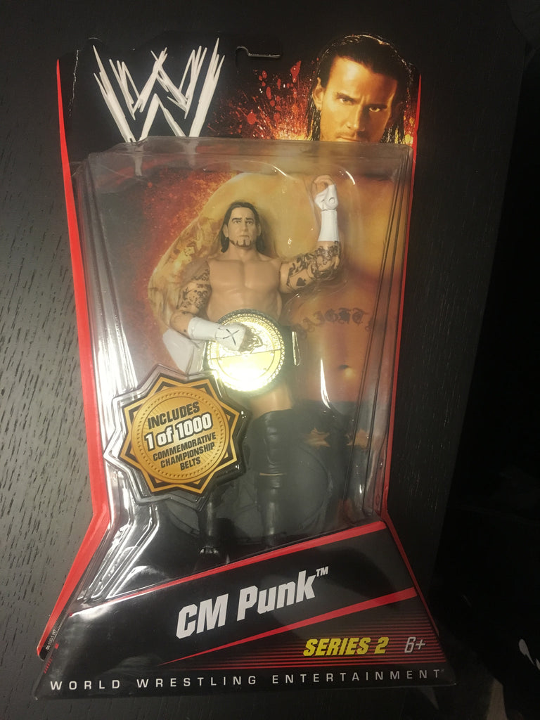 CM PUNK * 2010 WWE Series 2, 1/1000 Commemorative Championship Belts Chase Variant Action Figure - XSN - Your Shopping Network
