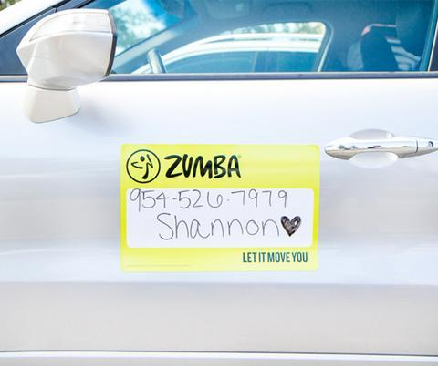 Zumba Fitness Let it Move You Dry Erase Car Magnet with Marker (CLOSEOUT)