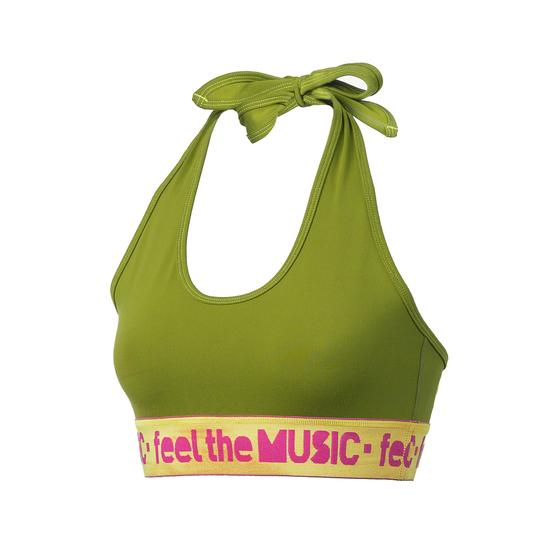 Zumba Fitness Feel It Halter Bra Top - Soldier (CLOSEOUT)