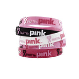 Zumba Fitness Groove For The Cure Rubber Bracelet