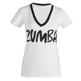 Zumba Fitness Life of the Party V-Neck Tee - White