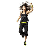 Zumba Fitness Party On Loose Racerback - Black