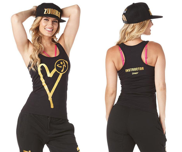 Zumba Fitness Be About Love Instructor Racerback - Bold Black