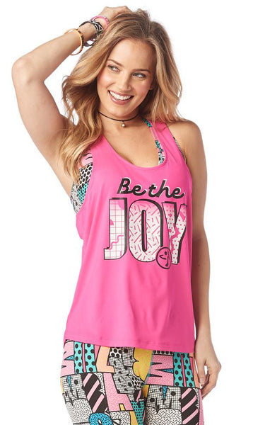 Zumba Fitness Be The Joy Loose Tank - Shocking Pink