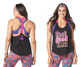 Zumba Fitness Feel Good Dance Good Tank - Bold Black