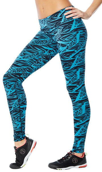 Zumba Fitness Funky Perfect Long Leggings - Bangin Blue