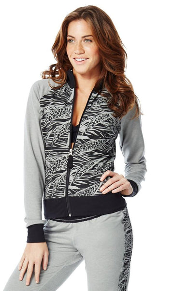 Zumba Fitness Funky Zip-Up Cardigan - Thunderin' Gray