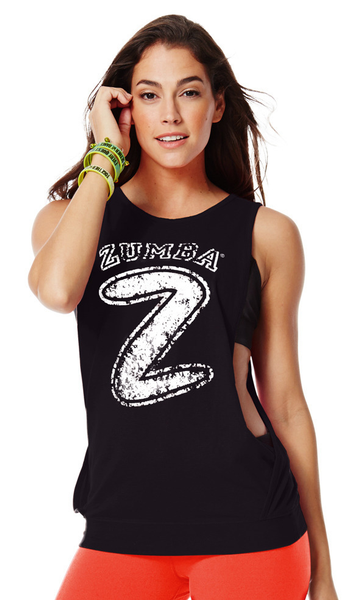 Zumba Fitness Hangin' Loose Bubble Tank - Back to Black